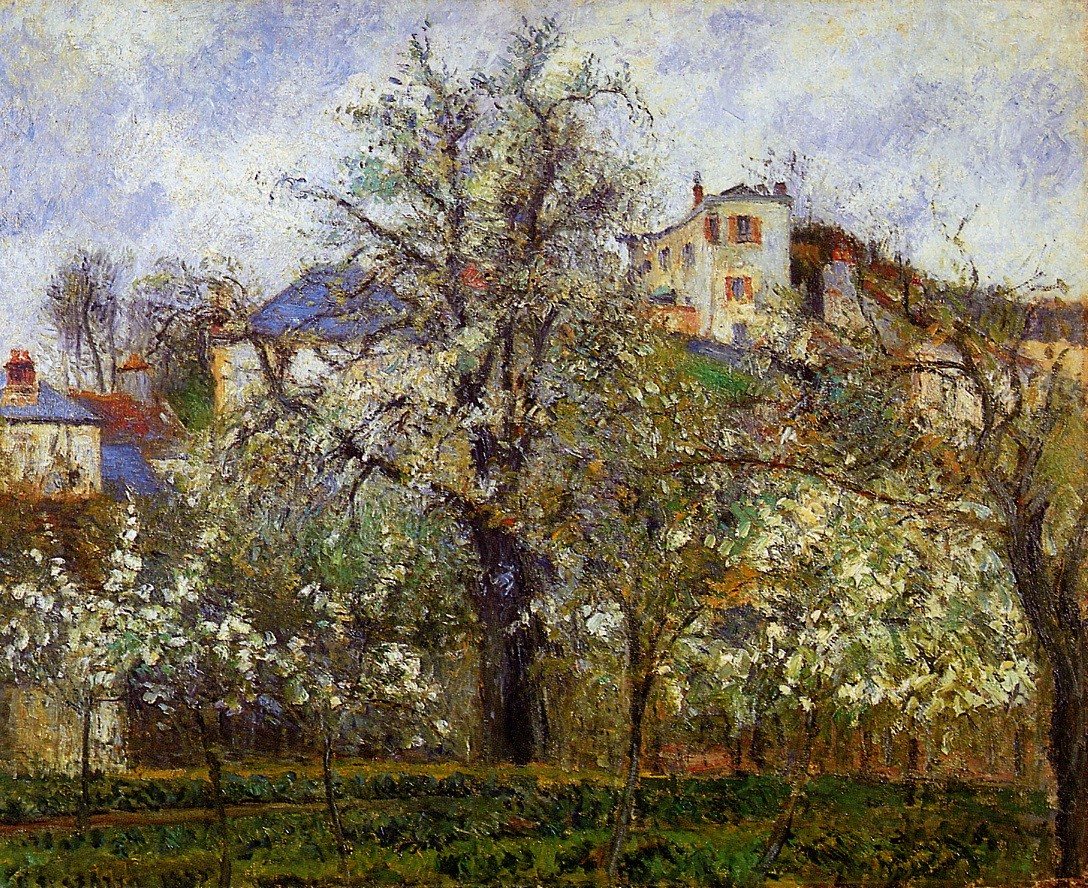 The Vegetable Garden with Trees in Blossom, Spring, Pontoise ...