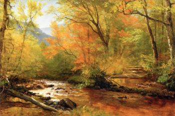 Brook in Woods | Albert Bierstadt | oil painting