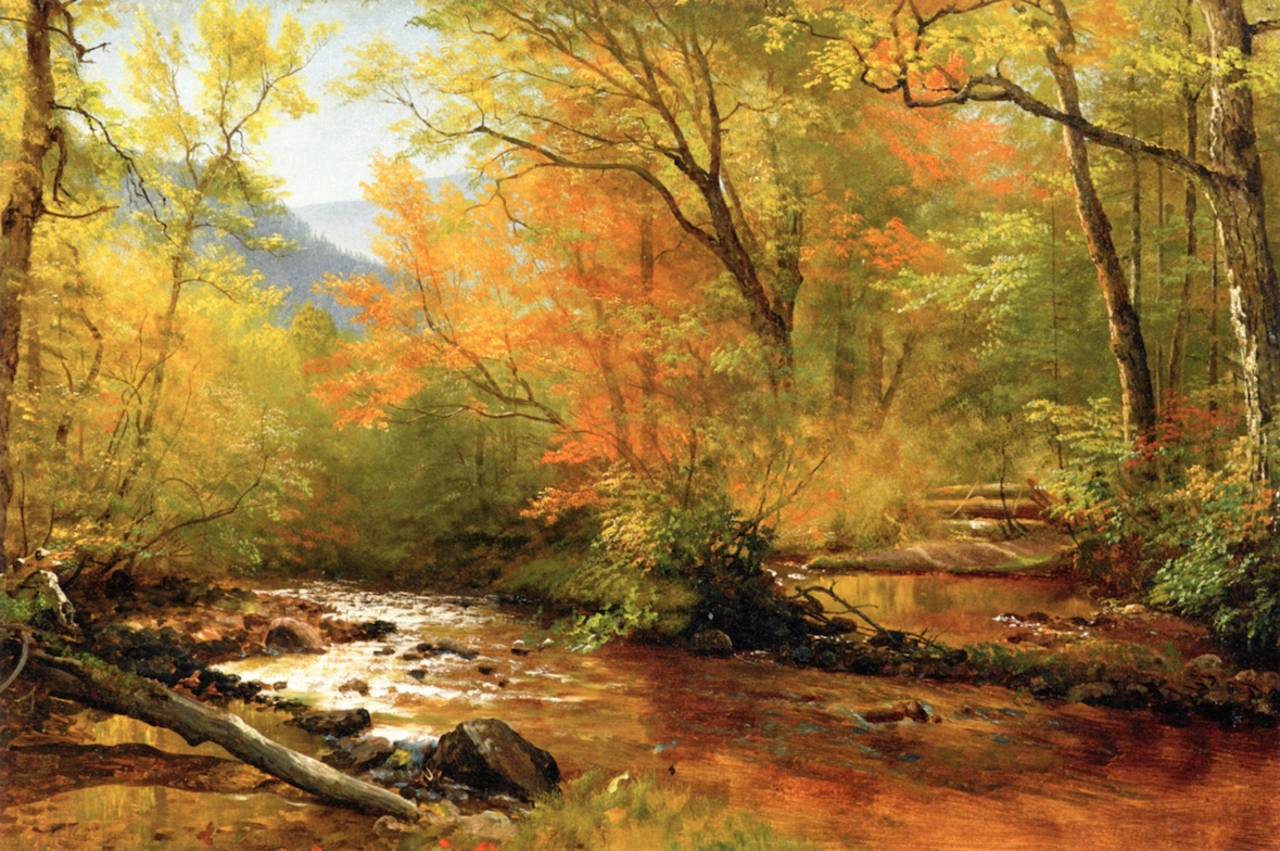 Brook in Woods | Albert Bierstadt | oil painting