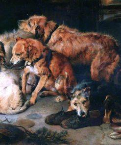 A Fireside Party | Sir Edwin Landseer | oil painting