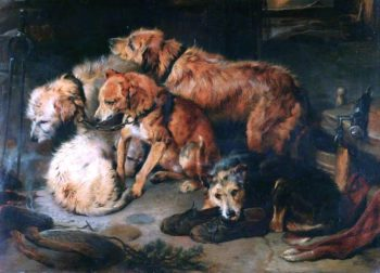 A Fireside Party | Sir Edwin Landseer | oil painting