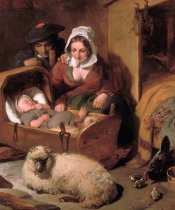 A Highland Shepherds Home | Sir Edwin Landseer | oil painting