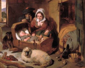 A Highland Shepherds Home | Sir Edwin Landseer | oil painting