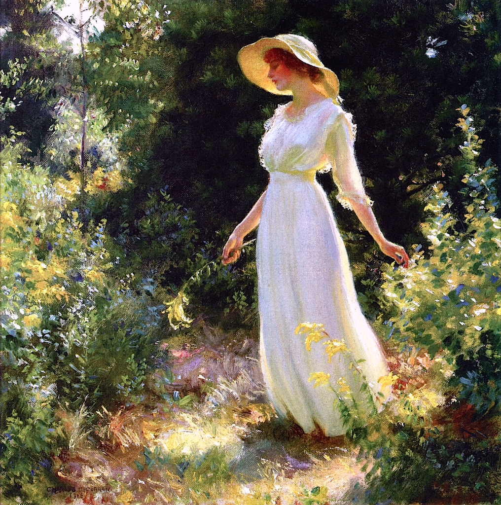 Famous Painting Of Woman Angel Over The Field
