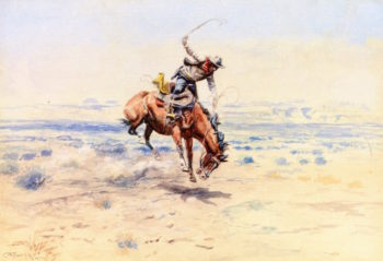 Bucking Bronc | Charles Marion Russell | oil painting