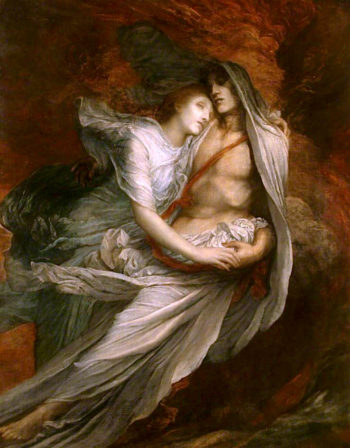 Paolo and Francesca   George Frederic Watts   oil painting