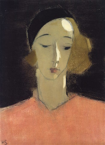 Girl in Beret | Helene Schjerfbeck | oil painting