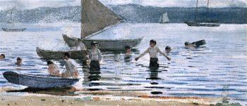 Boys Bathing | Winslow Homer | oil painting