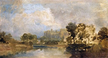 Windsor Castle for the River   Joseph Mallord William Turner   oil painting