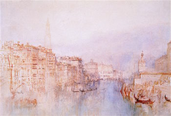 Venice -  The Grand Canal Looking towards the Dogana   Joseph Mallord William Turner   oil painting