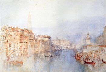 View down the Grand Canal towards the Dogana and the Campanile of San Marco   Joseph Mallord William Turner   oil painting