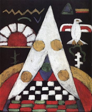 Am Abstract Arrangement of Indian Symbols | Marsden Hartley | oil painting