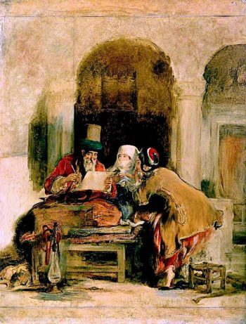 The Turkish Letter Writer   David Wilkie   oil painting