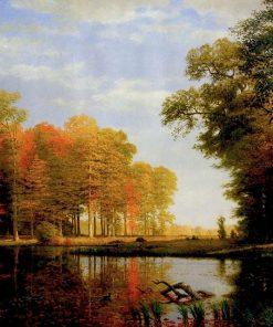 Autumn Woods   Albert Bierstadt   oil painting