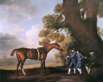 Eclipse with William Wildman and His Sons John and James | George Stubbs | oil painting