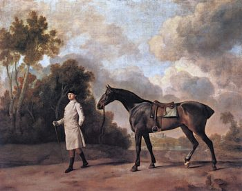 Assheton Curzon with His Mare Maria | George Stubbs | oil painting