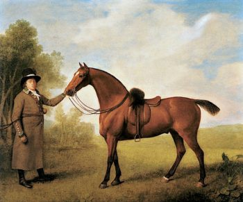 Charger with a Groom | George Stubbs | oil painting