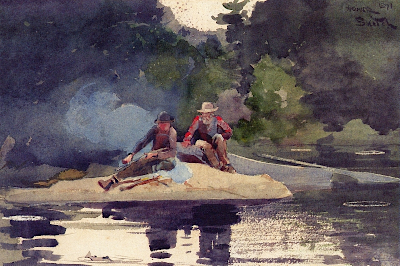 Building a Smudge | Winslow Homer | oil painting