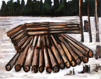 Logjam | Marsden Hartley | oil painting