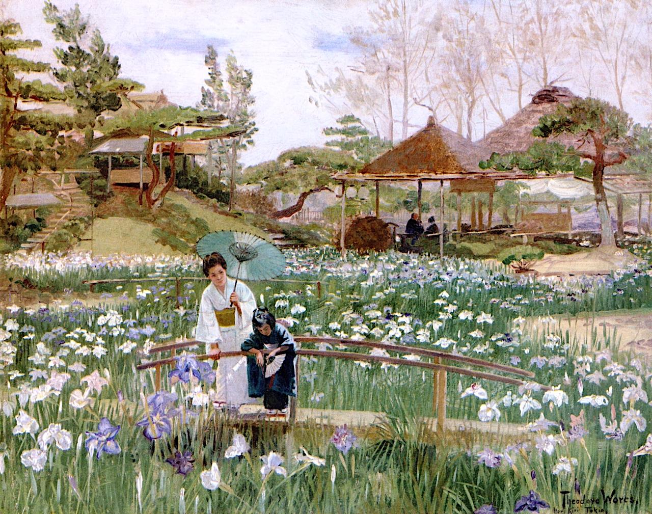 The iris flowers of hori kiri tokio painting theodore wores oil the iris flowers of hori kiri izmirmasajfo