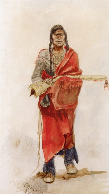 Blackfoot Indian | Charles Marion Russell | oil painting