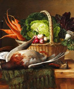 A hunting still life | Johan Laurentz | Oil Painting