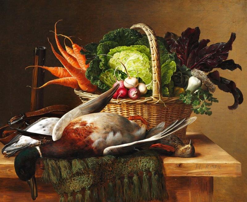 A hunting still life | Johan Laurentz | Oil Painting