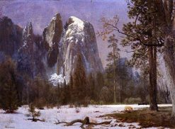 Cathedral Rocks Yosemite Valley Winter