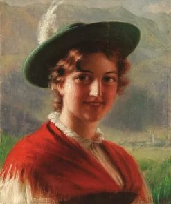 Portrait of a Bavarian Beauty | Alois Binder | Oil Painting