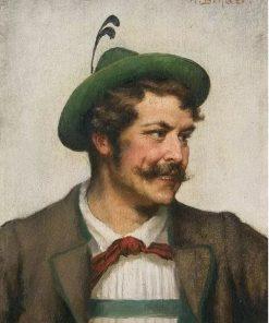Man in Bavarian Costume | Alois Binder | Oil Painting