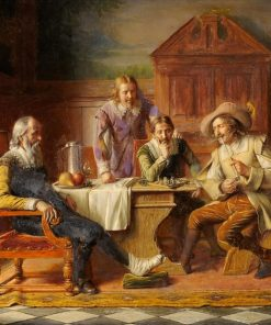 The Chess Game | Alois Binder | Oil Painting