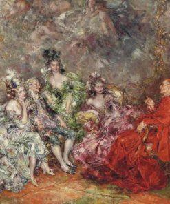 A captive audience | Juan Pablo Salinas y Teruel | Oil Painting