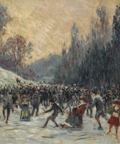 Skaters | Maximilien Luce | Oil Painting