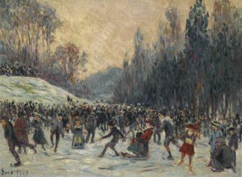 Skaters   Maximilien Luce   Oil Painting