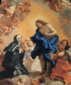 A Blessed Abbess Receiving the Host from the Hands of Christ | Giovanni Battista Gaulli | Oil Painting