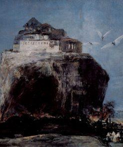 A City on a Rock | Eugenio Lucas Velazquez | Oil Painting