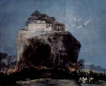 A City on a Rock | Eugenio Lucas Velazquez | Oil Painting
