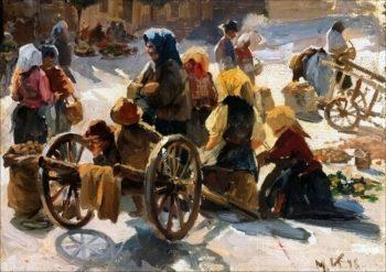 Market in France | Marie Triepcke Kroyer | Oil Painting