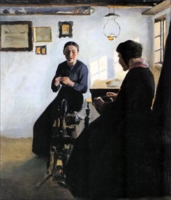 Interior with Peasant Women | Marie Triepcke Kroyer | Oil Painting