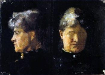 Portrait Study of Minna Triepcke | Marie Triepcke Kroyer | Oil Painting
