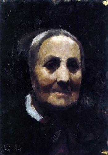 Old woman in bonnet | Marie Triepcke Kroyer | Oil Painting