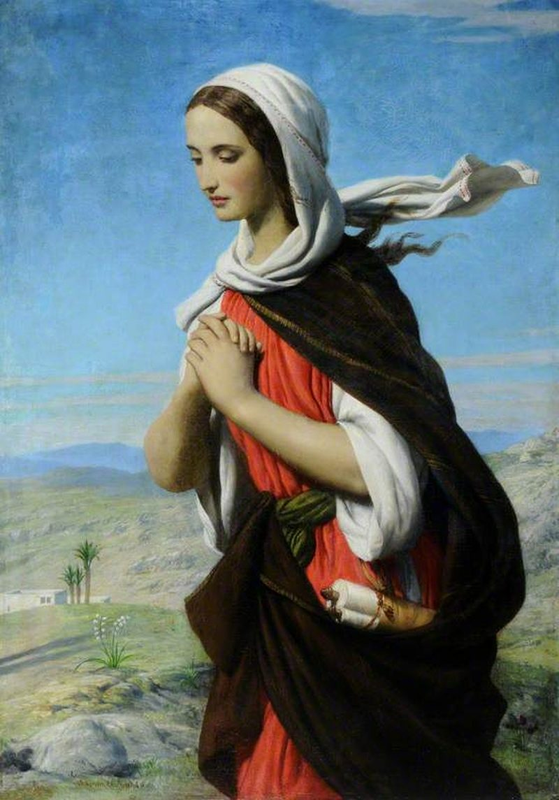 Biblical Female Figure In The Desert Possibly Mary Magdalene