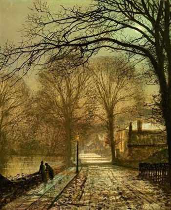 A moonlit country road | John Atkinson Grimshaw | Oil Painting