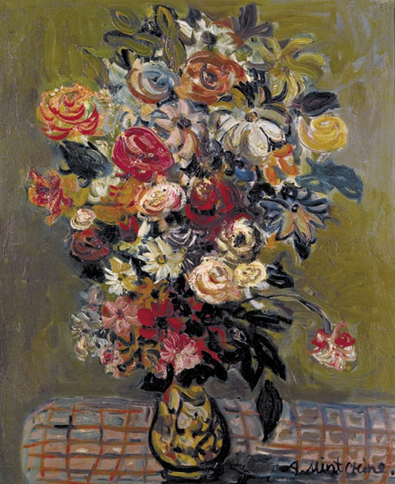 Flower Vase Painting Abraham Mintchine Oil Paintings