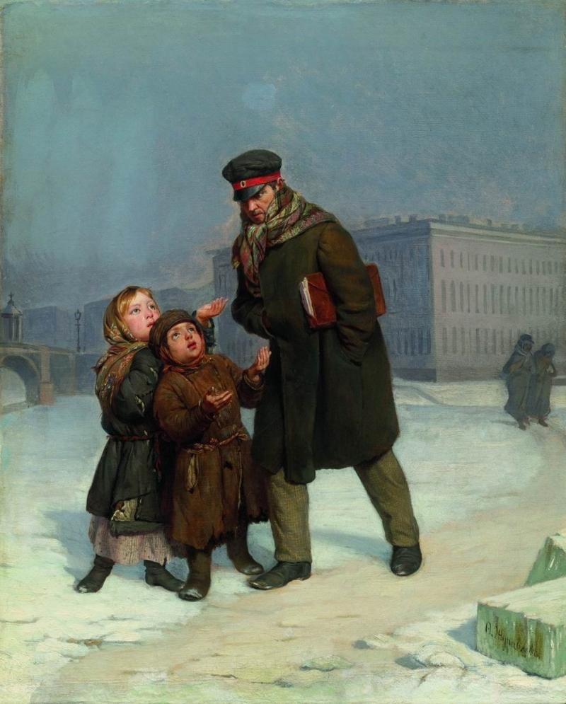 Citations des Pères de l'Eglise concernant l'AUMÔNE et la CHARITÉ (en espagnol) - Page 2 The-Beggar-Children-Firs-Zhuravlev-Oil-Painting