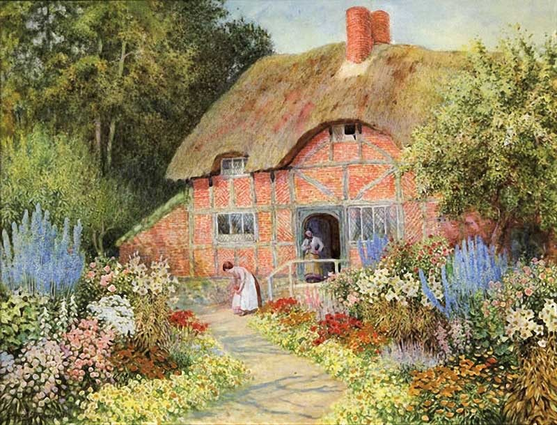 The Flower Garden | Arthur Claude Strachan | Oil Painting