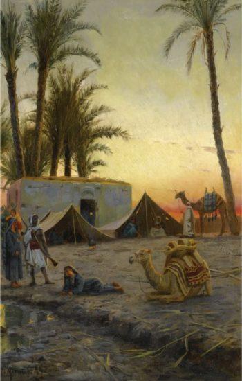 Desert Encampment | Peder Mork Mønsted | Oil Painting