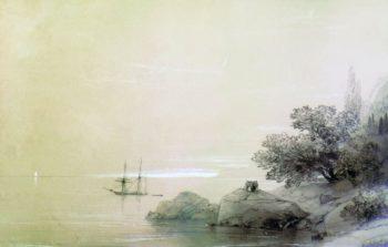 The Rocky Coast   Ivan Constantinovich Aivazovsky   Oil Painting