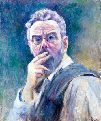 Self Portrait with a Cigarette   Maximilien Luce   Oil Painting