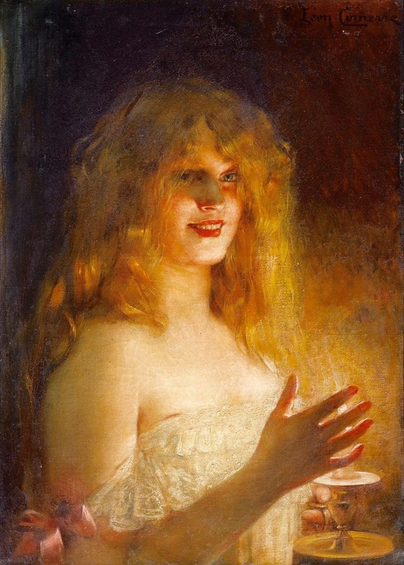 Young girl with candle Painting | Leon-Francois Comerre | Oil ... for Girl With Candle Painting  67qdu